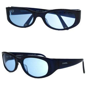 Chanel Sunglasses Navy CC Logo